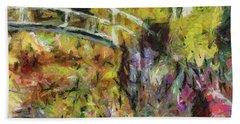 Summer In Monet's Garden Hand Towel by Dragica Micki Fortuna