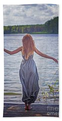 Summer In The Light And Winter In The Shade Hand Towel