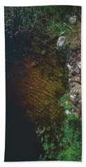 Summer Lake - Aerial Photography Hand Towel
