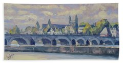 Summer Maas Bridge Maastricht Hand Towel