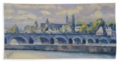 Summer Maas Bridge Maastricht Hand Towel