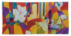 Summer Magnolias Bath Towel by Nancy Jolley