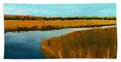 Summer Marsh South Carolina Lowcountry Bath Towel by Anthony Fishburne
