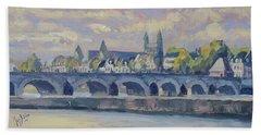 Summer Meuse Bridge, Maastricht Bath Towel