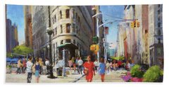 Summer Morning At Flatiron Plaza Hand Towel