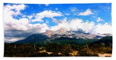 Summer On Mt. Shasta Bath Towel by Methune Hively
