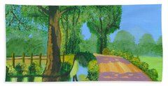 Bath Towel featuring the painting Summer Path by Magdalena Frohnsdorff