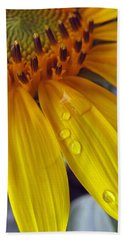 Summer Rain On Sunflower Bath Towel