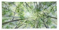 Hand Towel featuring the painting Summer Rays by Lynn Quinn