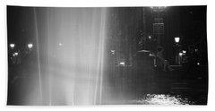 Summer Romance - Washington Square Park Fountain At Night Hand Towel