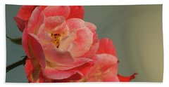 Bath Towel featuring the photograph Summer Roses by Margie Avellino