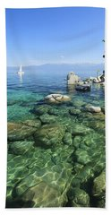 Summer Sail Portrait Hand Towel