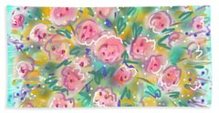 Bath Towel featuring the painting Summer Scarf by Jean Pacheco Ravinski