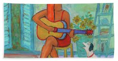 Bath Towel featuring the painting Summer Serenade II by Xueling Zou