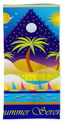 Hand Towel featuring the digital art Summer Serenity by Nancy Griswold