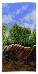 Summer Shadows Hand Towel by Donna Blackhall