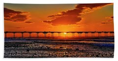Summer Solstice Sunset Hand Towel