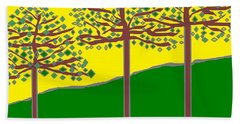 Summer Stained Glass 2 Bath Towel by Linda Velasquez