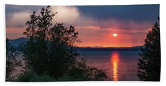 Hand Towel featuring the photograph Summer Storm by Jan Davies
