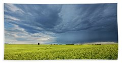 Summer Storm Over Alberta Bath Towel
