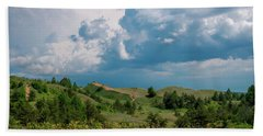 Summer Storm Over The Dunes Bath Towel