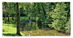Bath Towel featuring the photograph Summer Stream by Cricket Hackmann