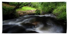 Hand Towel featuring the photograph Summer Stream by Tim Nichols