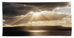 Summer Sun On Yellowstone Lake Hand Towel