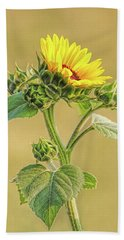 Bath Towel featuring the photograph Summer Sunflower Floral by Jennie Marie Schell