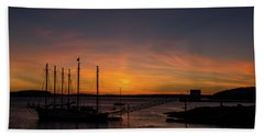 Summer Sunrise In Bar Harbor Hand Towel
