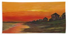 Summer Sunset At  Crystal Beach Hand Towel