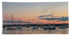Summer Sunset In Boothbay Harbor Hand Towel