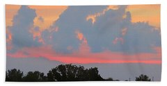 Hand Towel featuring the photograph Summer Sunset In Missouri by Robin Regan
