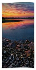 Summer Sunset In Rye Bath Towel