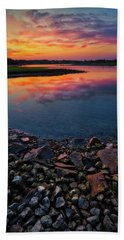 Summer Sunset In Rye Bath Towel
