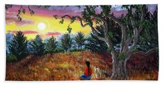 Summer Sunset Meditation Bath Towel