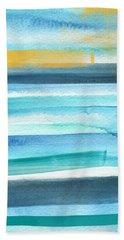 Summer Surf 2- Art By Linda Woods Bath Towel
