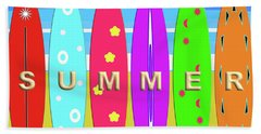 Summer Surf Hand Towel