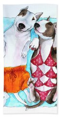 Bath Towel featuring the painting Summer Time by Jindra Noewi