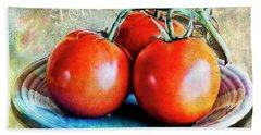 Summer Tomatoes Bath Towel