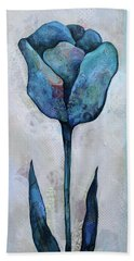 Bath Towel featuring the painting Summer Tulip I by Shadia Derbyshire