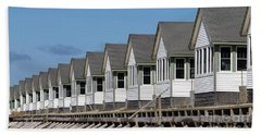 Summer Vacation Cottages At The Beach Hand Towel