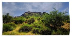 Hand Towel featuring the photograph Summer Valley Vista H17 by Mark Myhaver