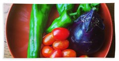 Summer Vegetables Bath Towel