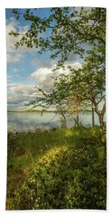 Hand Towel featuring the photograph Summer View by Rose-Marie Karlsen