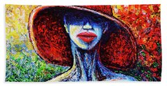 Hand Towel featuring the painting Summer by Viktor Lazarev