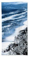 Summer Waves Cape Lookout Oregon Coast Hand Towel