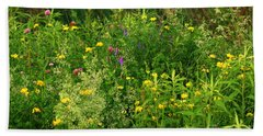 Summer Wildflowers Bath Towel