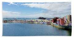 Summers End Capitola Beach Hand Towel