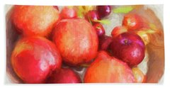 Summers Harvest Nectarines, Cherries And  Hand Towel